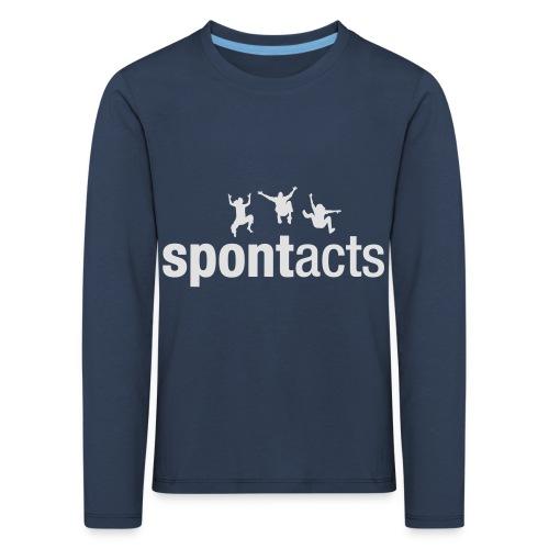 spontacts_Logo_weiss - Kinder Premium Langarmshirt