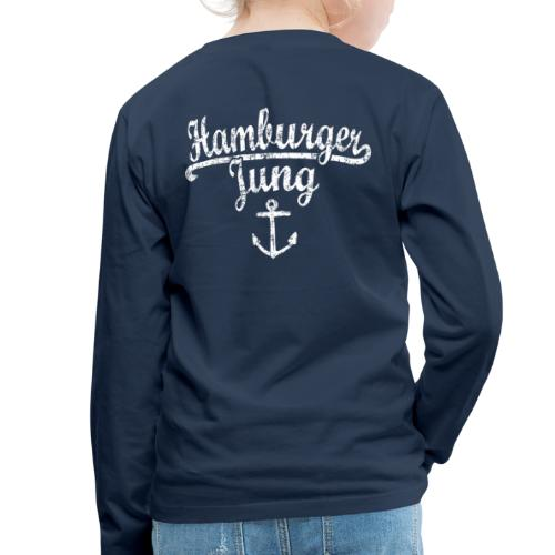 Hamburger Jung Klassik (Vintage Weiss) Hamburg - Kinder Premium Langarmshirt