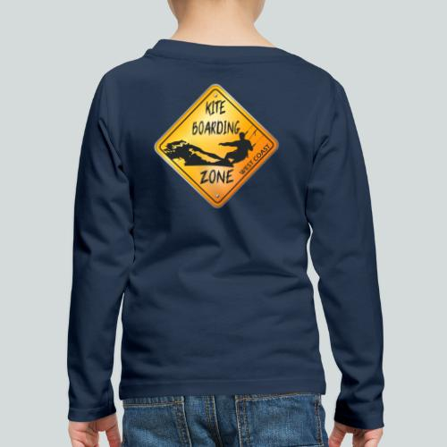 KITEBOARDING ZONE WEST COAST - T-shirt manches longues Premium Enfant