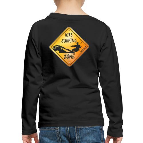KITESURFING ZONE BREIZH - T-shirt manches longues Premium Enfant