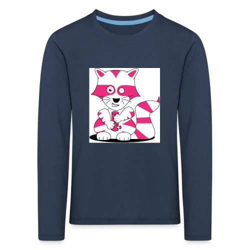 randolpf the raging racoon Digitalmotiv - Kinder Premium Langarmshirt