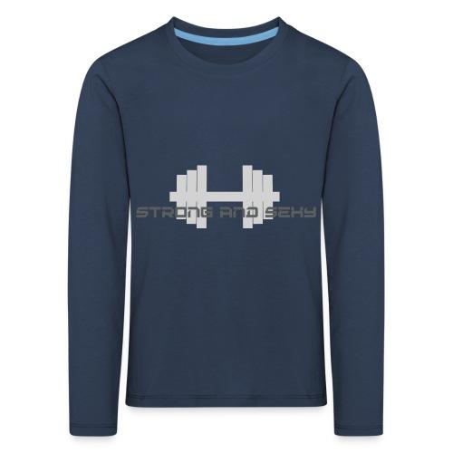 sasdumbell3 png - Kinderen Premium shirt met lange mouwen