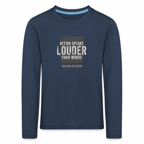 Action Speaks 4lines ver.02 - Børne premium T-shirt med lange ærmer
