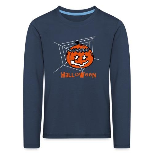 Halloween Kürbis 0PD37 - Kinder Premium Langarmshirt