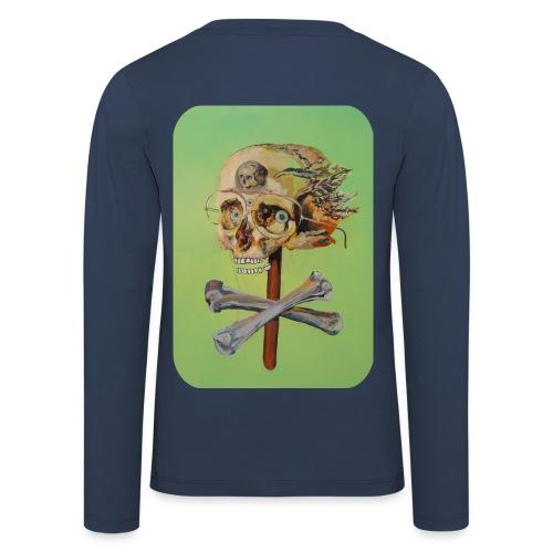 oil painting of skull and bones - Kinderen Premium shirt met lange mouwen
