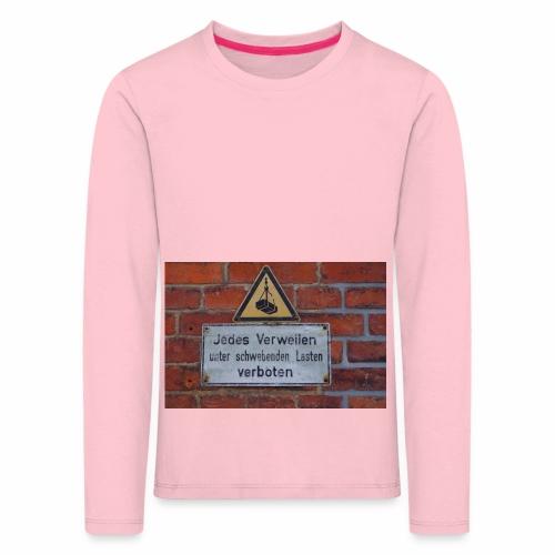 Original Artist design * Jedes Verweilen - Kids' Premium Longsleeve Shirt