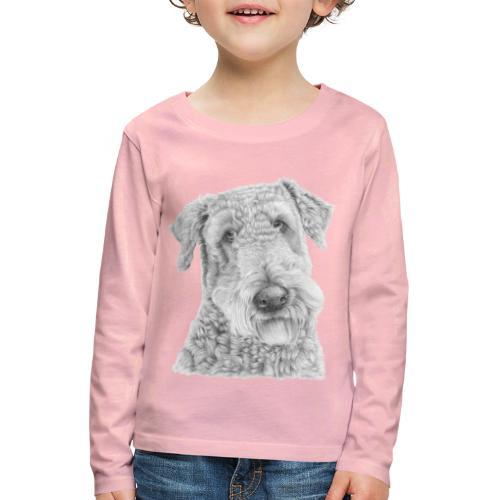 airedale terrier - Børne premium T-shirt med lange ærmer