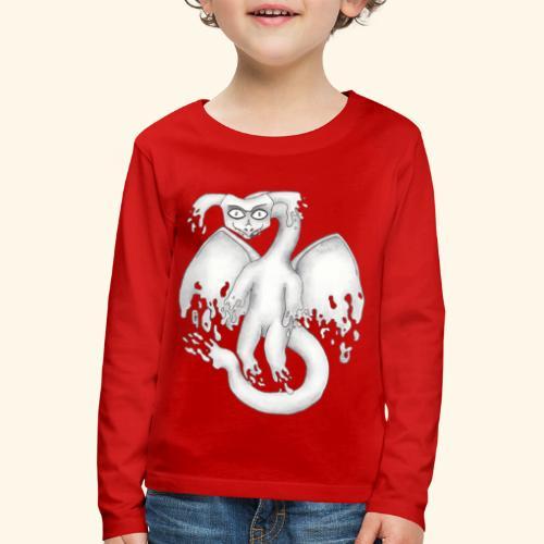 Spökdrake - Långärmad premium-T-shirt barn