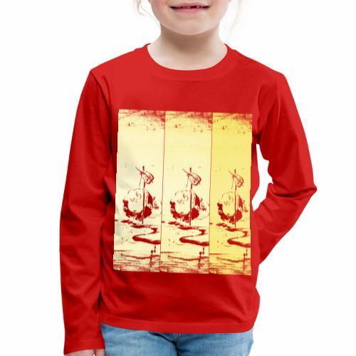hotei - utagawa kuniyoshi - Kinder Premium Langarmshirt