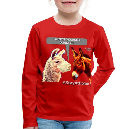 Protect Yourself Donkey - Coronavirus - Kids' Premium Longsleeve Shirt