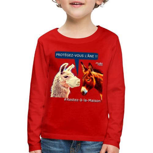 PROTEGEZ-VOUS L'ÂNE !! - Coronavirus - Kinder Premium Langarmshirt