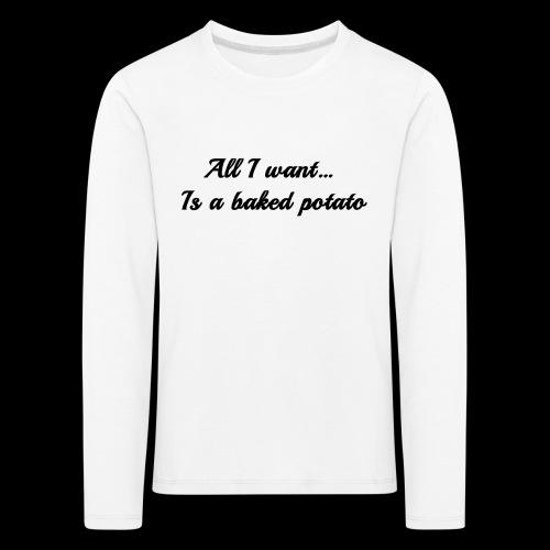 Baked potato - Kids' Premium Longsleeve Shirt