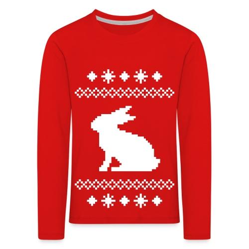 Norwegerhase hase kaninchen häschen bunny langohr - Kinder Premium Langarmshirt
