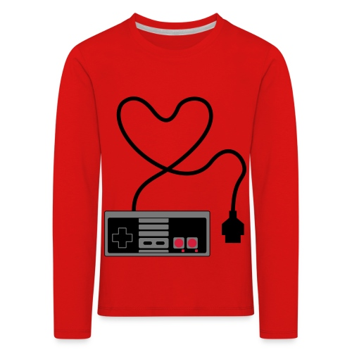 NES Controller Heart - Kids' Premium Longsleeve Shirt