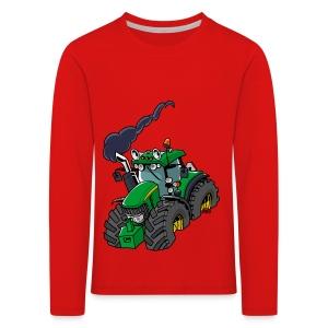 GREEN TRACTOR - Kinderen Premium shirt met lange mouwen