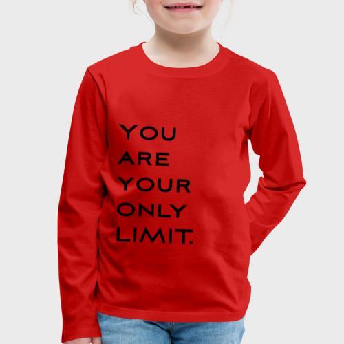 Limit Black - Kinder Premium Langarmshirt