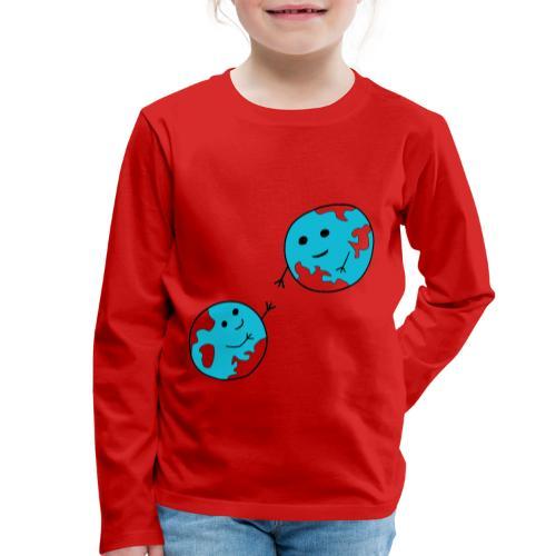 earth - Kinder Premium Langarmshirt