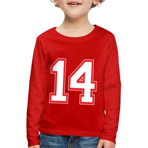 DANNIEB 14 - Maglietta Premium a manica lunga per bambini