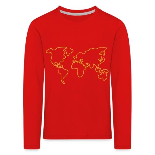 Wereldkaart - Kinderen Premium shirt met lange mouwen