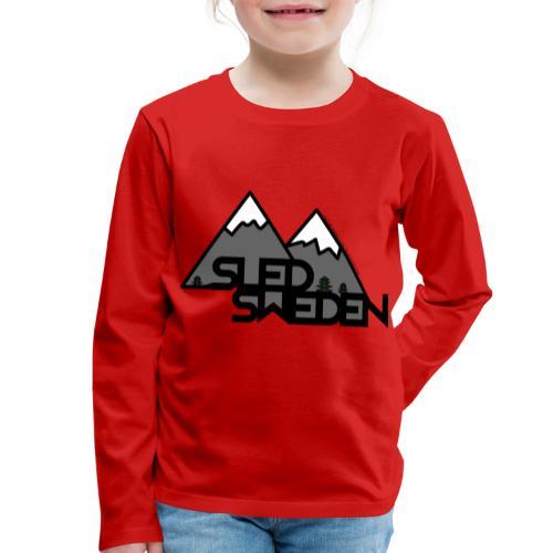 SledSweden Official Logo - Långärmad premium-T-shirt barn