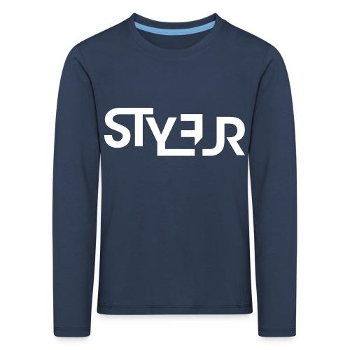 styleur logo spreadhsirt - Kinder Premium Langarmshirt