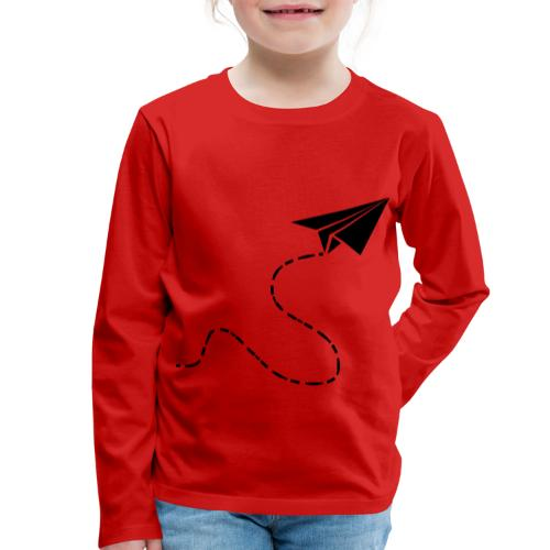 Avión de papel - Camiseta de manga larga premium niño