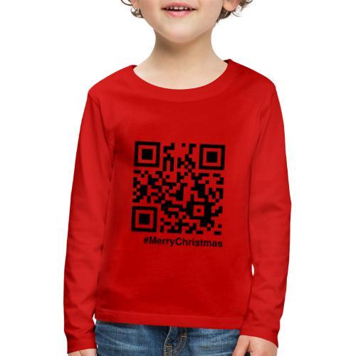 Merry Christmas Santa Claus HoHoHo QR-code - Kids' Premium Longsleeve Shirt