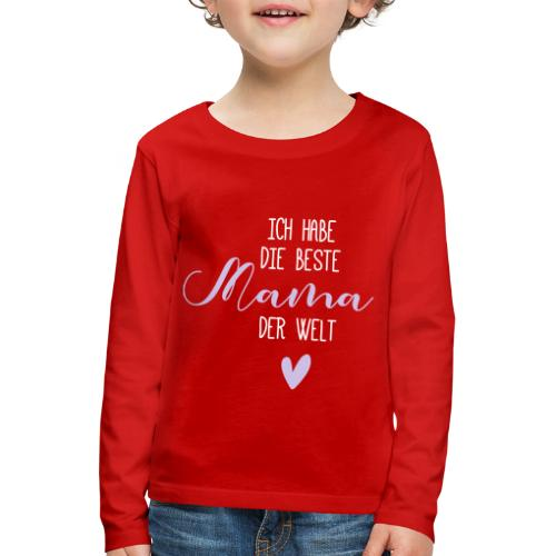beste mama der welt herz 01 - Kinder Premium Langarmshirt