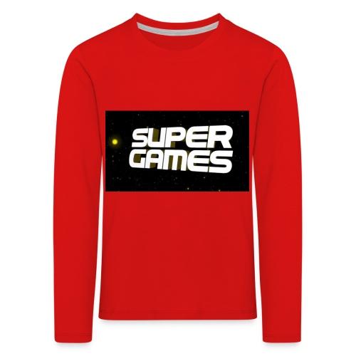 #SuperGames - Kinder Premium Langarmshirt