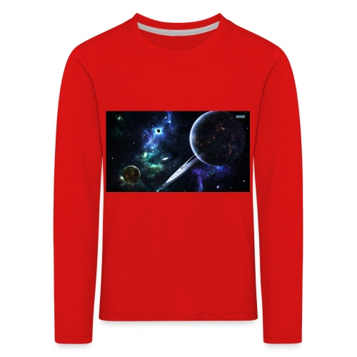 Universum /Saturn - Kinder Premium Langarmshirt