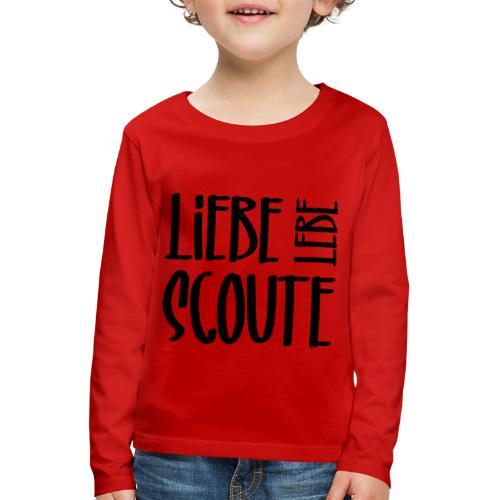 Liebe Lebe Scoute Typo - Farbe frei wählbar - Kinder Premium Langarmshirt