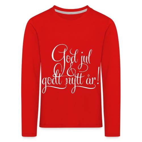God jul & godt nytt år! - detnorskeplagg.no - Premium langermet T-skjorte for barn