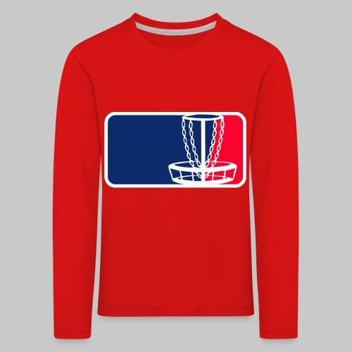Disc golf - Lasten premium pitkähihainen t-paita