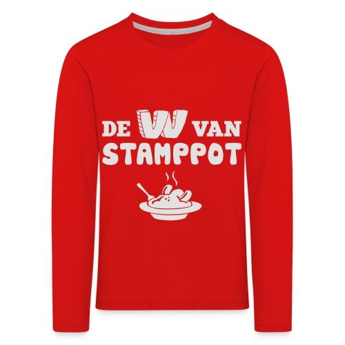 De W van Stamppot - Kinderen Premium shirt met lange mouwen