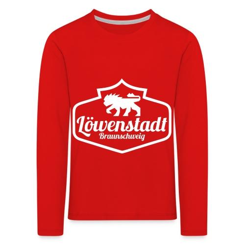 Löwenstadt Design 1 weiss - Kinder Premium Langarmshirt
