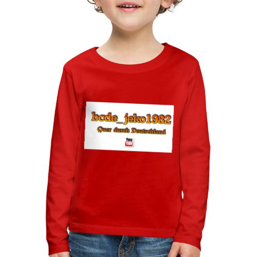 quer durch deutschland - Kinder Premium Langarmshirt