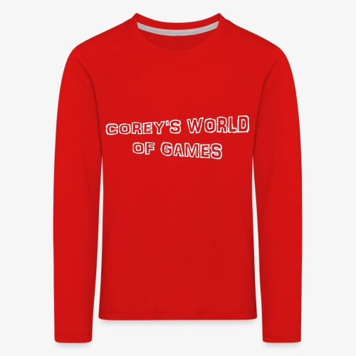 Coreys World Of Games - Kids' Premium Longsleeve Shirt