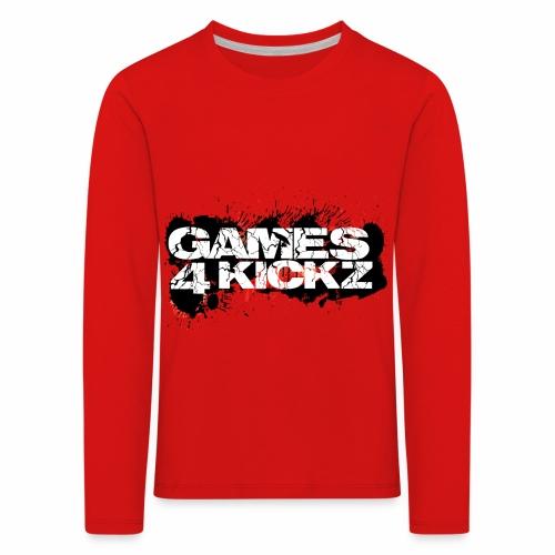 Games4Kickz Logo Splattered Background - Kids' Premium Longsleeve Shirt