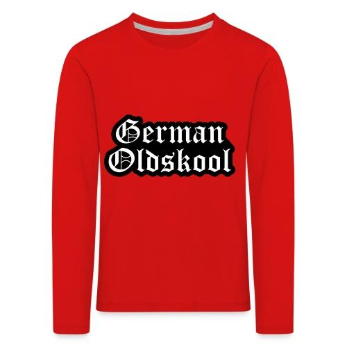 Grand Logo German Oldskool Official - T-shirt manches longues Premium Enfant