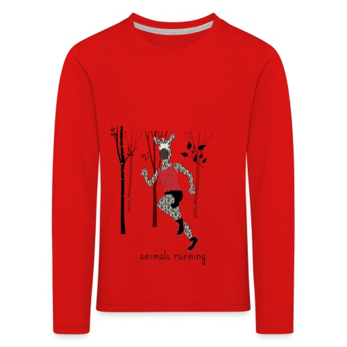 Zèbre running - T-shirt manches longues Premium Enfant