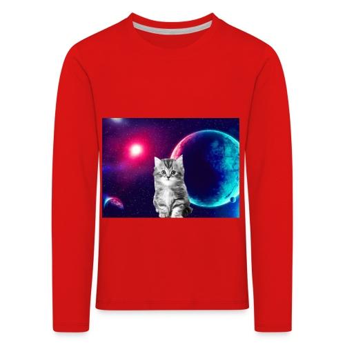 Cute cat in space - Lasten premium pitkähihainen t-paita