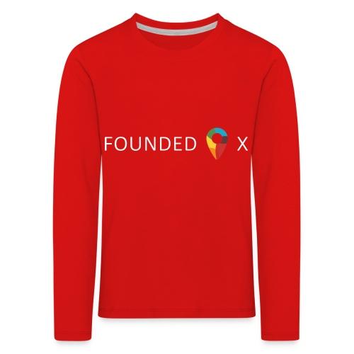 FoundedX logo white png - Kids' Premium Longsleeve Shirt