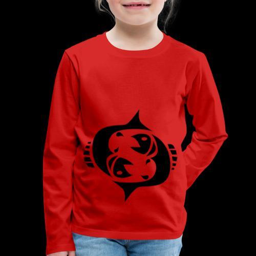 STERNZEICHEN FISCH - Kinder Premium Langarmshirt