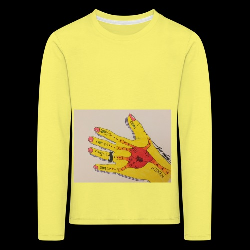 9D8D600F D04D 4BA7 B0EE 60442C72919B - Børne premium T-shirt med lange ærmer