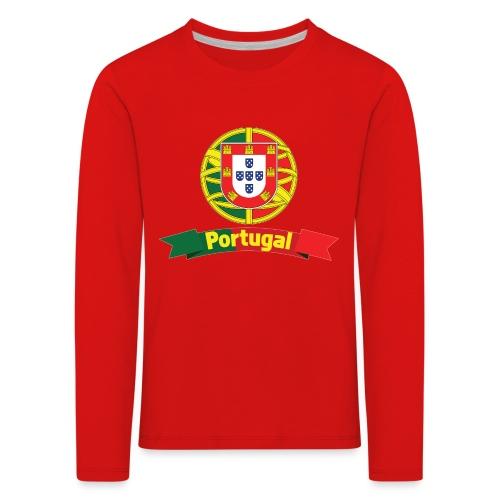Portugal Campeão Europeu Camisolas de Futebol - Kids' Premium Longsleeve Shirt