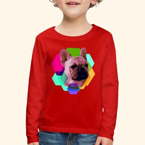 French Bulldog head - T-shirt manches longues Premium Enfant