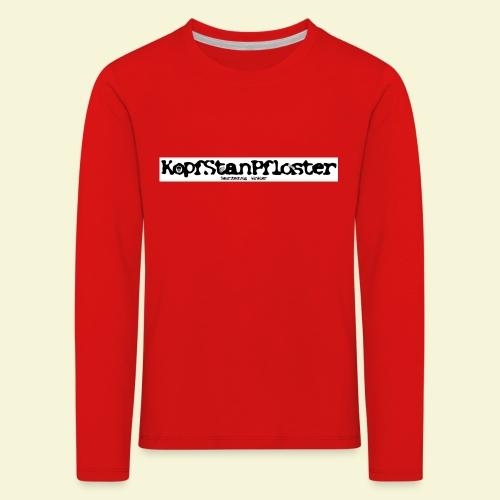 KopfStanPfloster Banner s w - Kinder Premium Langarmshirt