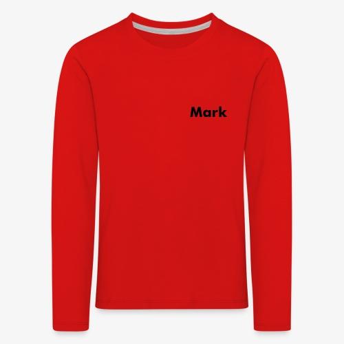 Mark Logo - Kinder Premium Langarmshirt