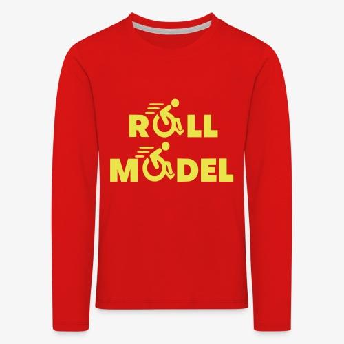 Elke rolstoel gebruiker is een roll model - Kinderen Premium shirt met lange mouwen