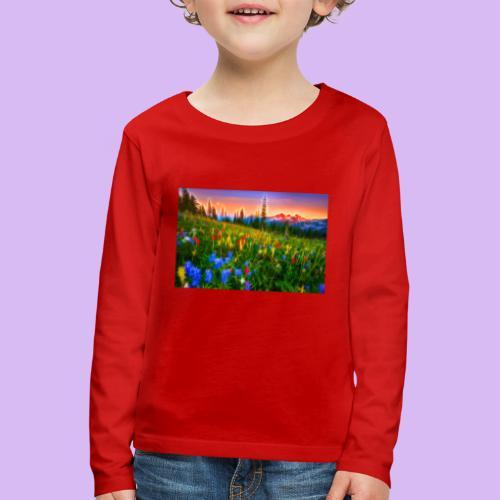 Bagliori in montagna - Maglietta Premium a manica lunga per bambini